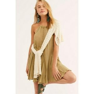 Free People | Catching Rays Halter Tunic in Moss